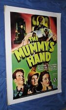 THE MUMMY'S HAND Universal Studios Theme Park Ride Prop Poster (Monsters/Movie)