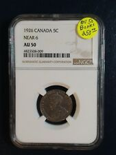 1926 Canada Nickel NGC AU50 NEAR 6 BETTER DATE 5C Coin PRICED TO SELL RIGHT NOW!