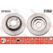 TRW 2x Bremsscheiben belüftet lackiert schwarz DF6534