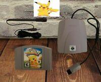 Hey You Pikachu! N64 Nintendo 64 Game VRU + NEW Microphone Tested 100% Works