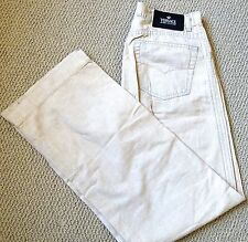 AUTHENTIC VERSACE JEANS COUTURE WOMEN'S BEIGE PANTS JEANS SIZE 29X43 ITALY