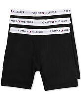 Men Underwear Tommy Hilfiger 3 Pack Classic Fit Boxer Brief Cotton BLACK $39.50