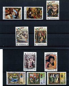 DOMINICA.>> CHRITSMAS- 1973/74/75/76/77  >>> 10 MNH