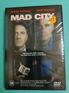 Mad City DVD John Travolta Dustin Hoffman Alan Alda BRAND NEW IN PLASTIC MA15+