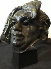 "Sculpture de Balzac Head Bust Alexis Rudier A Rodin - Fondeur Paris 9"""