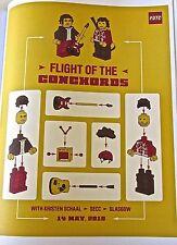Flight of the Concords Concert Mini-Poster No 2   Glascow  Scotland 2010 14x10