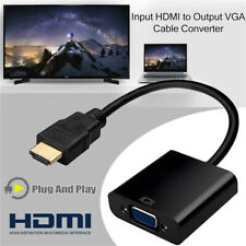 HDMI To VGA Converter Adaptor 1080P HD Video Audio Cable For DVD TV PC Monitor