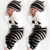 3pz Bambino born Cappello+Tutina+Pantaloni Pantaloni Completo Abbigliamento Set
