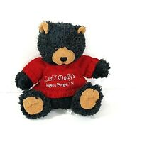Fiesta Lid'l Dolly's Pigeon Forge TN Gray/Black Bear Plush Red Sweater 8.5 inch