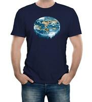 Flat Earth Waterfall Mens T-Shirt Flat Earther Conspiracy Theory No Sphere Funny