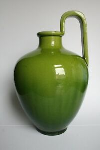 Bretby Art Pottery - Large Green Ewer Vase
