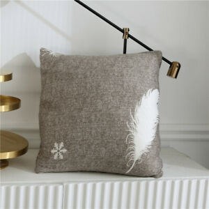 Modern Feather Abstract Art Elastic Couch Sofa Cover Spandex Slipcover Protector
