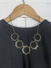 Gold Star Necklace Statement Bib Cosmic