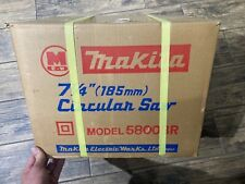 "Vintage MAKITA 7-1/4"" 185mm Circular Saw Model 5800BR NOS Brand New!!"