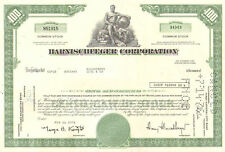 Harnischfeger > 1970s > now Joy Global oil and gas stock certificate