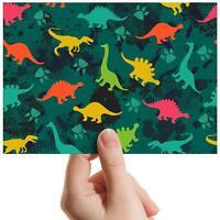 "Dinosaurs Jurassic Camo Small Photograph 6""x4"" Art Print Photo Kids Gift #13184"