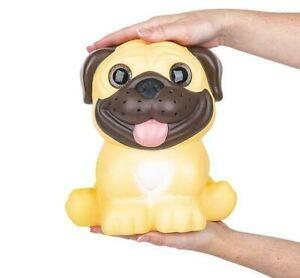 "9"" JUMBO SPARKLE EYE PUG SQUISH Squeeze Toy Squishy"