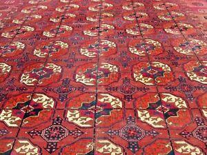 6.9 x 11.4  ANTIQUE TURKMAN TEKKE MAIN CARPET ROOM SIZE ESTATE FIND BARGAIN !