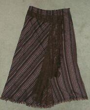 PER UNA - M&S Lace trim BOHO MAXI SKIRT - Size 12 Long 35 ins