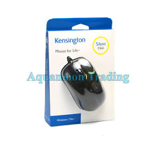 New Kensington Mouse Wired USB 3 Button Silent Click HD Optical 1000DPI K72392US