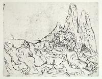"DDR-Kunst. ""Odysseus"", 1978. Radierung Joachim JOHN (1933-2018 D), handsigniert"