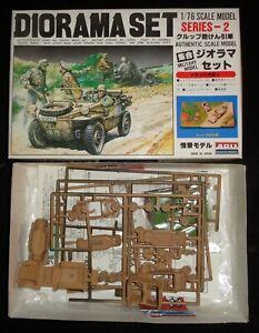 ARII # AR-109B-500 1/76 Scale WWII German Men & Vehicles Diorama Set Model Kit