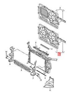 Genuine AUDI A4 Avant S4 Twin Fan Ring 8K0121207D