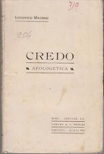 RELIGIONE MACINAI LUDOVICO CREDO APOLOGETICA 1903 LIBRO DESCLÉE LEFEBVRE