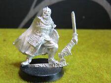 Warhammer LOTR-ROHAN capitán a pie (metal raro Pose)