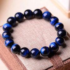 100% Natural AAA+ Gemstone Tigers Eye Stone Beads Woman Man jewelry Bracelet