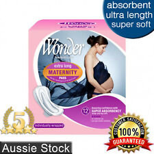 Wonder Maternity Sanitary Pads w/ Wings / Extra Long / Ultra Absorbent 12pk