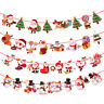 Christmas Party Hanging Decor Snowman Santa Claus Elk Sock Banner Xmas Supply