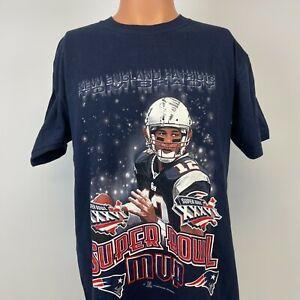 Tom Brady New England Patriots Super Bowl 36 T Shirt Vtg 2002 NFL Football M