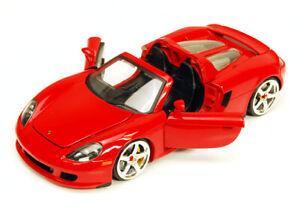 Porsche Carrera GT Convertible Red Jada 91994 1/24 Scale Diecast Car