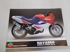 BROCHURE ORIGINALE DEPLIANT MOTO LAVERDA 125 NAVARRO MONOPAGINA
