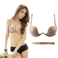 Colors Women Sexy Deep V Bra Brassiere Push Up Padded Cup B Bra Hot Solid