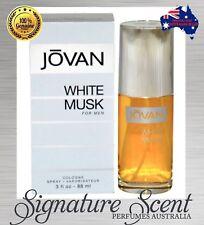 JOVAN WHITE MUSK 88ml EDC Cologne Spray  for Men  By Jovan  New In Box (BNIB)