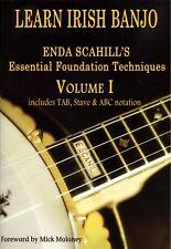 Banjo Book Enda Scahill Learn Irish Banjo Volume 1 With 2 CDs New