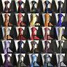 Paisley Floral Cravat Ascot Tie & Pocket Square Hanky Wedding Party Handkerchief