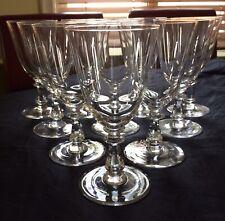 10 Vtg Val St Lambert Concerto Plain Crystal Water Goblets 8oz