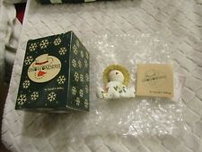 Snowonder Capper Snowman May Figurine Sarah's Attic 1998 with Box Coa New