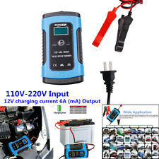 Car Battery Charger 12V 6A LCD Intelligent Smart Automatic Motorcycle Lawn Mower