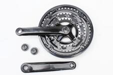 Steel Triple Chainset Chainwheel 28/38/48, 170mm cranks Black 15/18/21 Speed
