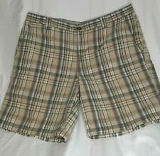 Columbia Shorts Size 40 Mens Classic Chino Flat Front Cotton 10 Inch Plaid