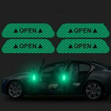 4Pcs/set Auto Car Door Open Sticker Anti-collision Accesories Green Decal
