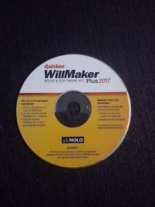 Quicken WillMaker Plus 2017 Estate Planning Software - Mac/Windows DISC ONLY