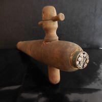 Robinet tonneau fût chêne vin alcool fait main vintage art déco PN France N2928