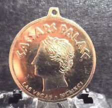"2"" PENDANT/MEDALLION OF CAESAR'S PALACE,LV. LOOP FOR CHAIN OR NECKLACE, YELLOW."