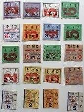 1955-1967 Chicago Bears Lot Of 57 Ticket Stubs Home Games