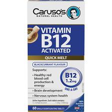 Caruso's Natural Health Vitamin B12 Activated Quick Melts 60